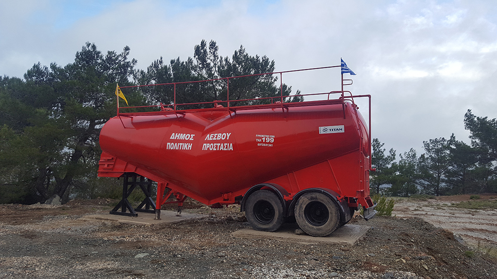 Fire protection in Lesvos with silo truck donation! - Titan Greece